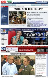 Comparison of Fox Web site coverage of Katrina with CNN, MSNBC