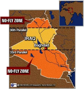 Northern and southern Iraqi no-fly zones