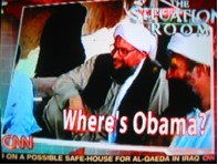 CNN graphic with the caption, Where's Obama?